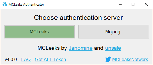 MCLeaks Authenticator